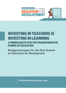 investing in teachers